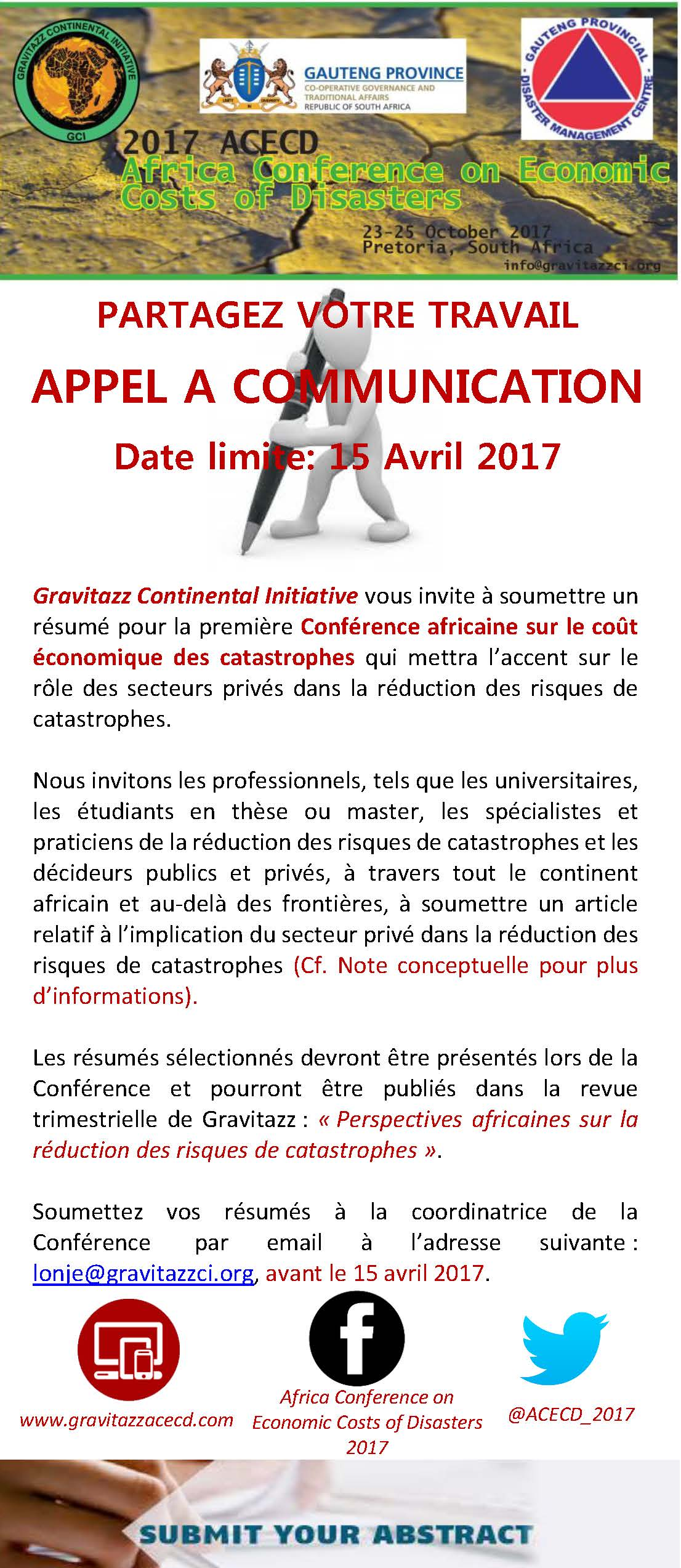 Call for papers french